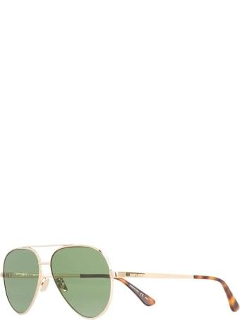 Saint Laurent Golden And Green  Classic 11 Zero Sunglasses
