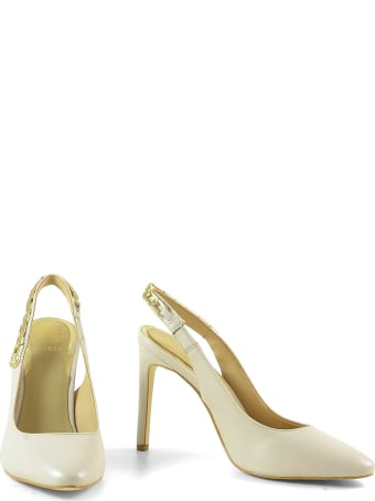 Guess Nude Leather Chain Slingback Shoes