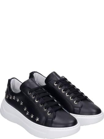Marc Ellis Sneakers In Black Leather