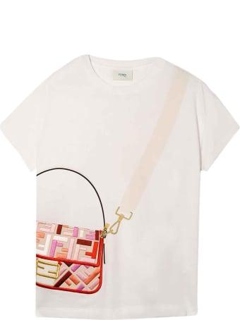 Fendi White T-shirt With Press