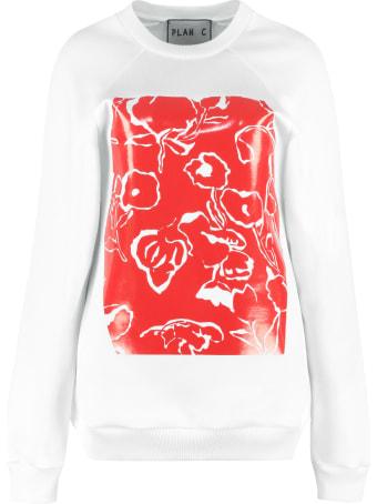 Plan C Printed Crew-neck Sweatshirt