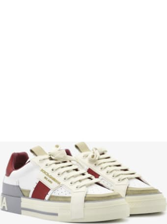 Dolce & Gabbana Custom 2.zero Sneakers In Leather With Suede Inserts