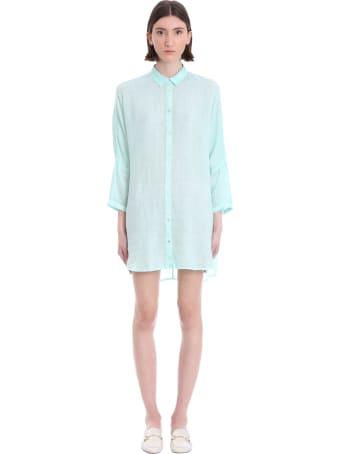 120% Lino Shirt In Green Linen