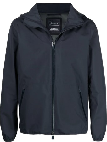 Herno Blue Laminar Hooded Jacket
