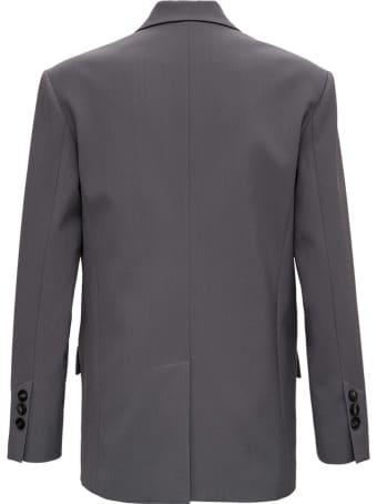 Tela Dolly Grey Blazer In Wool Blend