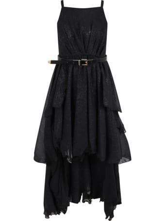 Le Gemelline by Feleppa Black Dress For Girl