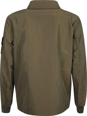 Stone Island Logo Patched Plain Jacket