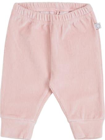 Stella McCartney Kids Pink Ribbed Knit Velvet Pants