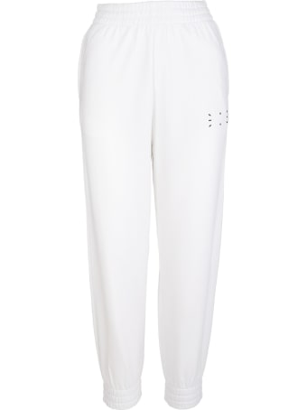 McQ Alexander McQueen Woman White Slim Fit Joggers With Logo