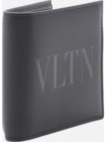 Valentino Garavani Bi-fold Leather Wallet With Tone-on-tone Logo Print