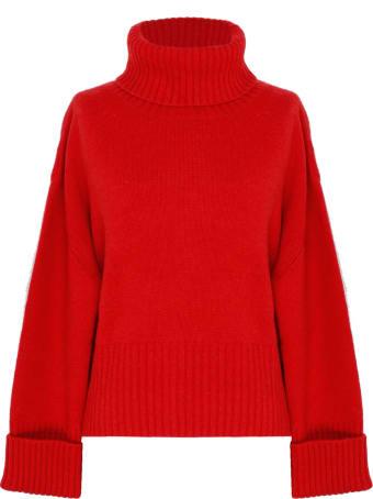 Saverio Palatella Cherry Red Cashmere Turtleneck Sweater