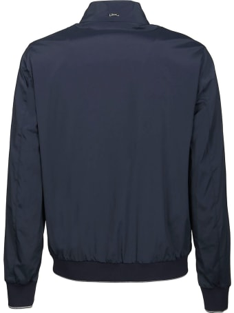 Herno Navy Blue Lightweight Bomber Jacket