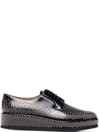 Noir Kei Ninomiya Church's Noir Leather Lace Up Shoes With Studs