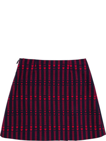 Gucci Cotton Skirt With Stars And Hearts Gg