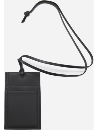 Alexander McQueen Graffiti Logo Print Leather Card Holder
