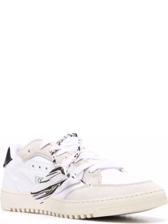 Off-White 5.0 Leather And Canvas Sneakers