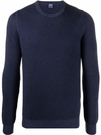 Fedeli Navy Blue Merino Sweater