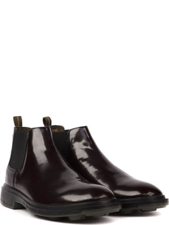 Pezzol 1951 Auburgine Color Calf Leather Boots
