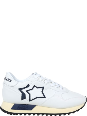 Atlantic Stars Draco Sneakers In Nylon And Suede Color White