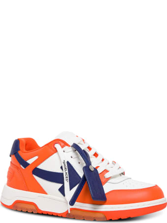 Off-White Out Of Office White And Orange Leather Sneakers