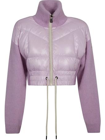 Moncler Grenoble Quilt Detail Cropped Zip Cardigan