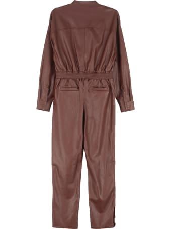 Pinko Long Vegan Leather Jumpsuit