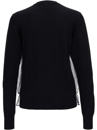 Noir Kei Ninomiya Wool And Tulle Sweater