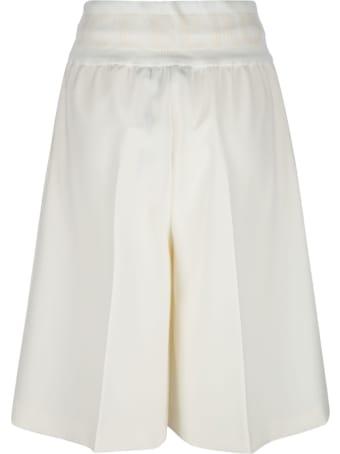 Iceberg Drawstring Waist Plain Shorts
