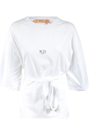N.21 Belted Waist Logo Print T-shirt
