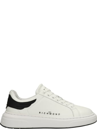 John Richmond Sneakers In White Leather