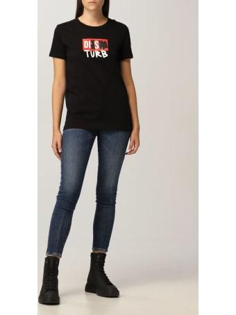 Diesel T-shirt Diesel Cotton T-shirt With Disturb Logo