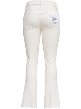 Frame Le Crop White Denim Jeans