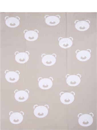 Little Bear Beige Blanket For Baby Kids With Bears