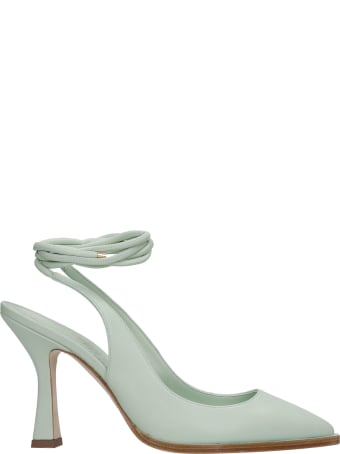 3JUIN Camelia 095 Pumps In Green Leather