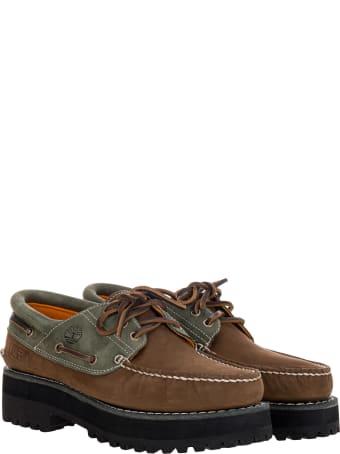 Timberland Timberland X Alife 3-eye Classic Lug Boat Shoes In Dark Brown/grey
