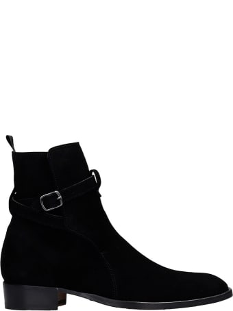 Marc Ellis Ankle Boots In Black Suede