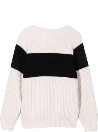 Balmain White Teen Sweater