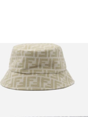 Fendi Bucket Hat In Wool And Silk With All-over Ff Motif