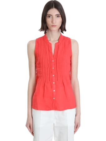 120% Lino Shirt In Red Linen