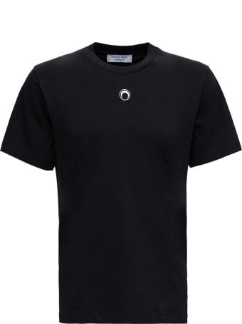 Marine Serre Organc Cotton T-shirt With Logo