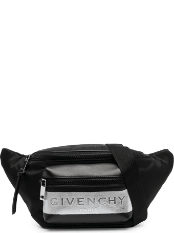 Givenchy Black Brushed Logo Belt Bag