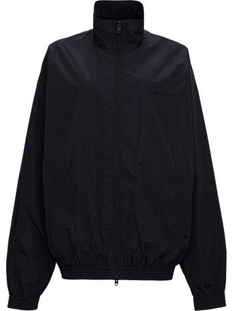 Balenciaga Black Nylon Jacket With Back Print