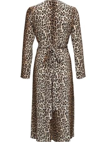 Antonelli Orfeo Long Dress In Animalier Silk