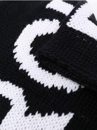 Maison Margiela Black Wool-blend Scarf
