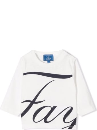 Fay White Cotton T-shirt