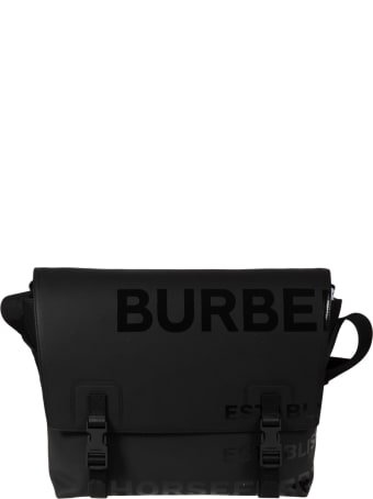 Burberry Top Logo Detail Double Snap Lock Shoulder Bag
