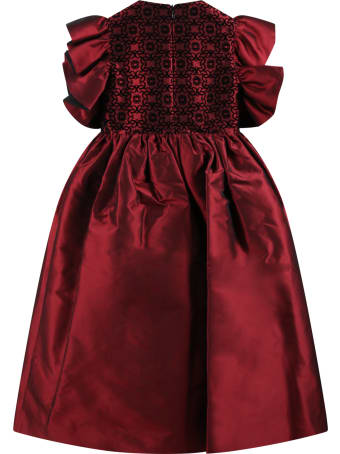 Elie Saab Red Dress For Girl With Logos