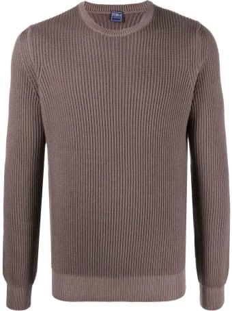 Fedeli Brown Merino Sweater