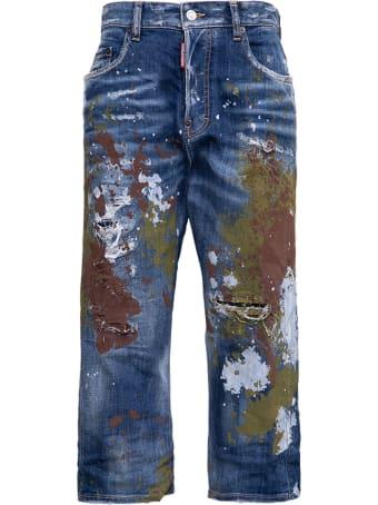 Dsquared2 Kawaii Crop Jeans With Color Slash Details