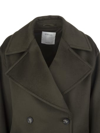 SportMax Military Green Austria Double-breasted Coat